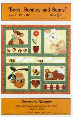 Bees, Bunnies and Bears from Desiree's Designs