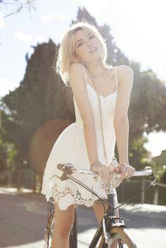 White lace dress!