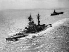 HMS Resolution and Formidable