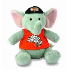 "Harley-Davidson® ""Piston"" Bean Bag Elephant 20639LK"