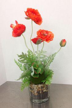 orange poppy arrangement