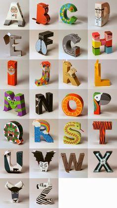 Lettere di carta da costruire!