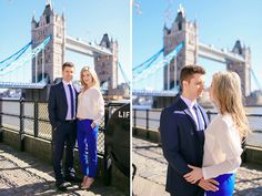 engagement prewedding love story photo shoot in London for a couple at Tower bridge , St Katharine Docks