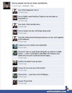 Harry Potter meets Mean Girls. Awesome.