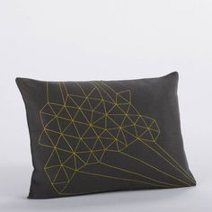 Coyuchi Delicate Triangles Embroidered Decorative Pillow