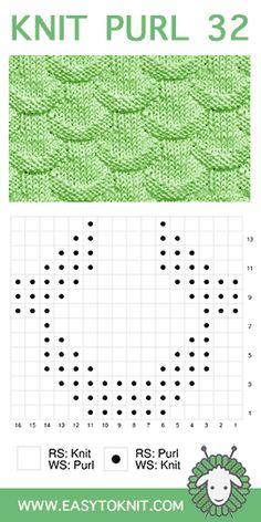 Knitting Chart of the Triangle Knit Stitch Pattern with Studio Knit. Get your free knitting pattern and chart. Knit Purl Stitches, Knitting Stiches, Easy Knitting Patterns, Loom Knitting, Knitting Socks, Free Knitting, Knitting Projects, Baby Knitting, Stitch Patterns