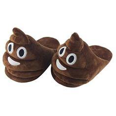 AutumnFall® Fashion Kid's Funny Emoji Delight Slipper Winter House Shoes