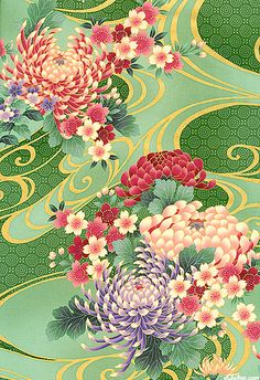 From the 'Hanami' collection from Hoffman Fabrics