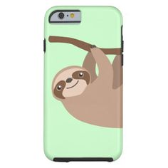 Cute Three-Toed Sloth iPhone 6 Case