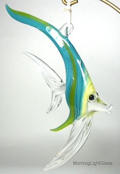 CLEARANCE Tropical Key Largo Fish Ornament by MorningLightGlass, $25.00