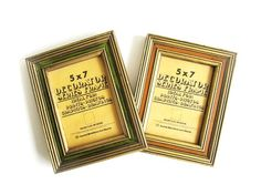 Vintage 70's Wooden Frames Orange Avocado Green Aaron Brothers Art Mart by EncoreEmporium on Etsy https://www.etsy.com/listing/233775620/vintage-70s-wooden-frames-orange-avocado