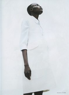 Sudanese model Grace Bol - beautiful.