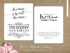 new address cards if we actually have a place by then to send out