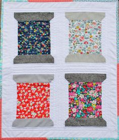 Mini spool Quilt: { Liberty Love }- Sophie Crespy