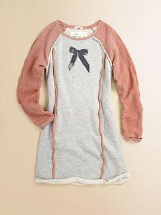 Scotch Shrunk - Girl's Bow Sweatshirt Dress -