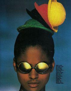 Elle US, April 1988.  Photographer: Gilles Bensimon. Model: Karen Alexander.