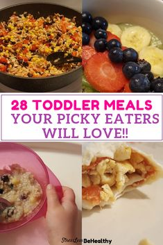 Trying to find toddler meal ideas for picky eaters? 2 year olds, 18 months,; check out these toddler friendly dinner, lunch, and breakfast ideas! Toddler Friendly Meals, Picky Toddler Meals, Toddler Lunches, Kid Friendly Dinner, Kids Meals, Easy Meals, Foods For Picky Toddlers, Toddler Dinners, Toddler Food