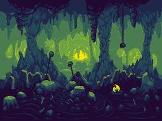 green cave float @ PixelJoint.com
