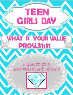 Bible Fun For Kids: Teen Tuesday: Teen Girls Day Part 1
