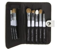 Sonia Kashuk® Essential Eye Kit by Sonia Kashuk®. $24.97. Number of Pieces: 6. Get glamour on the go with the Sonia Kashuk Essential Eye Kit. Everything you need to line, define, blend, contour and smudge. Contains medium, angled and crease eyeshadow brushes, a foam applicator, smudge brush and a case with mirror.      Number of Pieces: 6     For Use On: Face     Care and Cleaning: Clean with Water