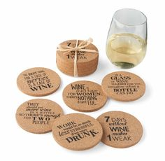 Cork Coasters (Set of 6) from Wine Branch