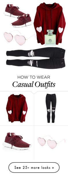 """""""Just B Casual"""" by sweetyincago on Polyvore featuring Full Tilt, AMIRI, adidas and Versace"""