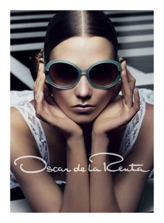 Spring/Summer 2012 - Linda Farrow sports Oscar de la Renta's new sunglasses line