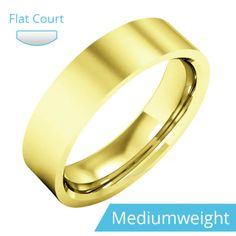 A classic flat court men's ring in medium weight 9ct. yellow gold