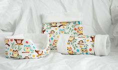 Soooo cute! (But make my own!)  Patterned Owls Guinea Pig Bed, Tunnel, Snuggle Sack, Matching Set. $38.00, via Etsy.
