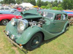 Jaguar 3.5 litre 1947 at Sherborne Castle classic car show