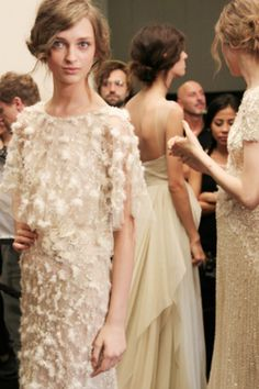 Backstage at the Elie Saab show