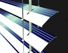 Solar Blinds: Stores Power By Day, Shines By Night