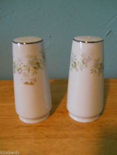 "Johann Haviland Forever Spring ""Set of Salt & Pepper"" Flowers Bavaria Germany #JohnannHaviland"