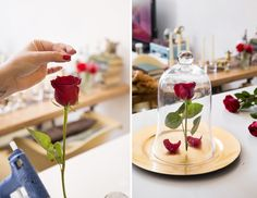 First things first, create your own enchanted rose.