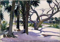 Folly Beach, Charleston, South Carolina / Edward Hopper/ 1929 / Watercolor, gouache and charcoal on paper