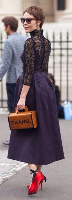 Proenza Schouler dress and Les Petits Joueurs bags 2015