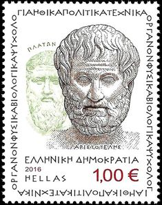 Francobollo: Aristotelis and Plato (Student and teacher) (Grecia) (Aristotele) Mi:GR 2821 Postage Stamp Design, Postage Stamps, Money Worksheets, Stamp Collecting, Mail Art, Planner Stickers, Greece, Teacher, Student