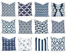 Taies d'oreiller bleu marin et blanc taies par CompanyTwentySix
