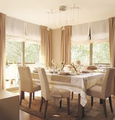Even does not seem, Curtains are very important in home decoration. Yes, it is true that one of its main functions is to protect privacy, preventing o. Home And Living, Decor, Furniture, Curtains, Home, Dining Room Curtains, Dinning Room Design, Dinner Room, Home Decor