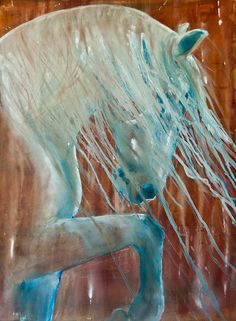 Andalusian Stallion Painting by Jani Freimann