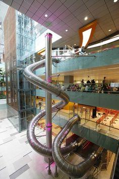 Changi airport slide in Singapore