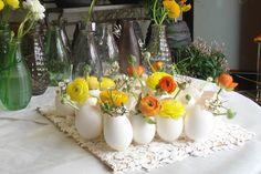 Huevos de Pascua florales.