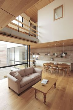 Home Interior Design — neat Interior Design Home « Sayo Minimal House Design, Minimal Home, Japan Interior, Home Interior Design, Next Living Room, House Tokyo, Architectural Design Studio, Loft Furniture, Loft Design