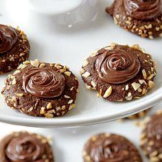 Chocolate-Hazelnut Thumbprints | CookingLight.com