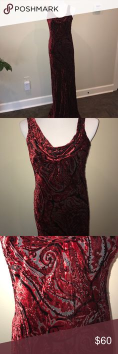 Carmel Marc Valvo velvet gown brand new size 6 Carmen Marc Valvo velvet, mesh and beading brand new. throughout. I bought this dress and never wore it. It has the tags that hold extra beads still attached. Retailed for $900. Carmen Marc Valvo Dresses Maxi