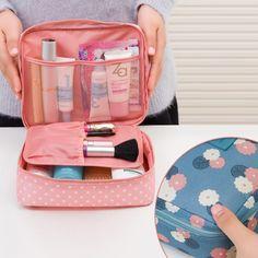 Marca di Grande capacità Portatile Toilette Cosmetic Bag Impermeabile Kit di Trucco Make Up Wash Dell'organizzatore Di Immagazzinaggio Del Sacchetto di Viaggio Sacchetto di Mano