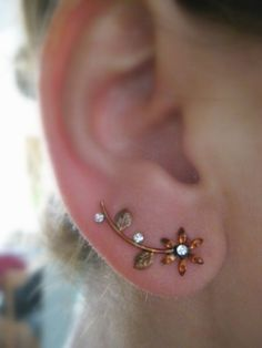 Ear Sweep Wrap - Cuff Earring Color2 - Handpainted | blucky - Jewelry on ArtFire