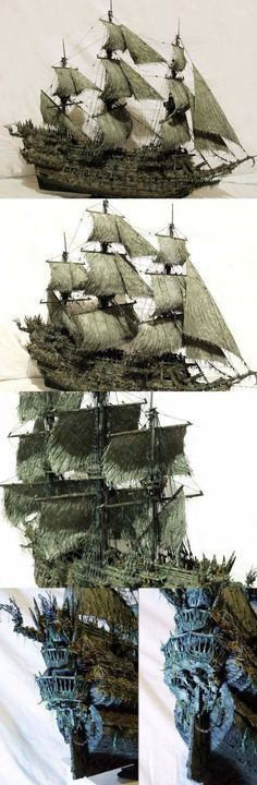 MODEL - Flying Dutchman from the Pirates of the Caribbean.