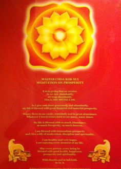 Master Choa Kok Sui Meditation on Prosperity