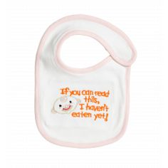 """Messy But Fun"" Organic Baby Bib - CUTE!"